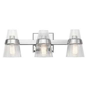 Reese Chrome 24-Inch Three-Arm Bath Light