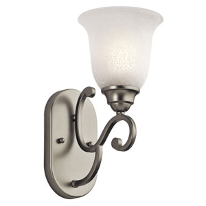 Camerena One-Light Brushed Nickel Wall Sconce