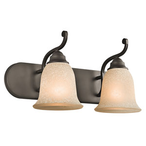 Camerena Olde Bronze Two-Light Bath Fixture