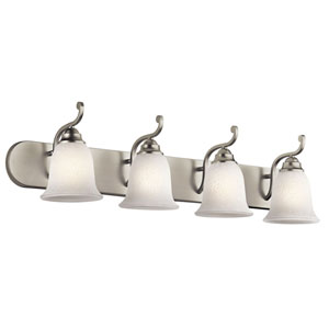 Camerena Four-Light Brushed Nickel Bath Fixture