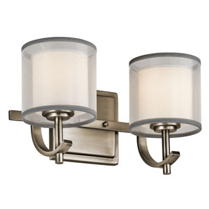 Tallie Antique Pewter Two-Light Vanity