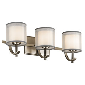 Tallie Antique Pewter Three-Light Vanity