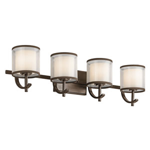 Tallie Mission Bronze Four-Light Vanity