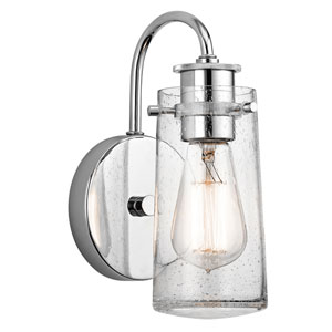 Braelyn Chrome One-Light Bath Sconce