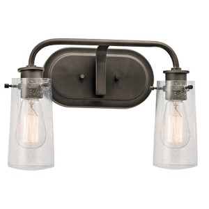Braelyn Olde Bronze Two-Light Bath Vanity Fixture