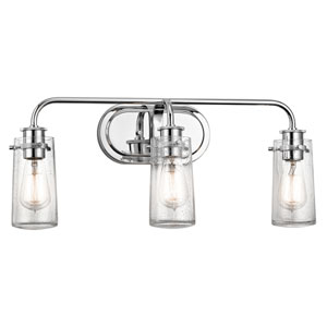 Braelyn Chrome Three-Light Bath Sconce