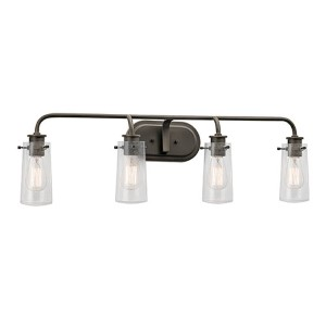 Braelyn Olde Bronze Four-Light Bath Vanity Fixture