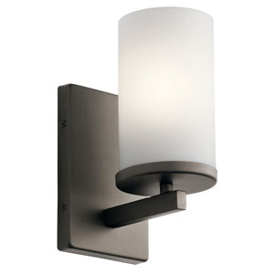Crosby Olde Bronze 5-Inch One-Light Wall Sconce