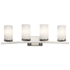 Crosby Brushed Nickel 31-Inch Four-Arm Bath Light