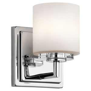 O Hara Chrome One Light Wall Sconce