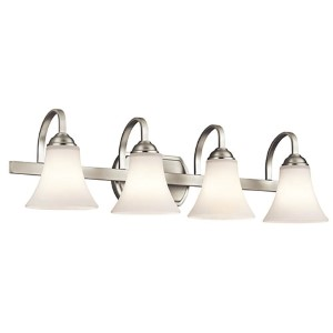 Keiran Brushed Nickel Four-Light Bath Vanity Fixture