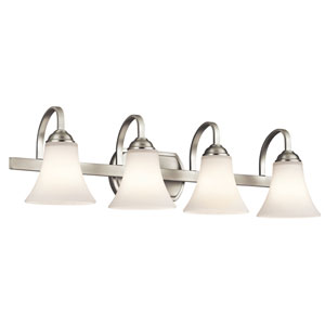 Keiran Brushed Nickel 30-Inch Energy Star Four-Arm Bath Light