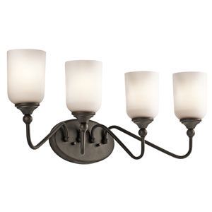 Lilah Olde Bronze Four-Light Bath Bracket