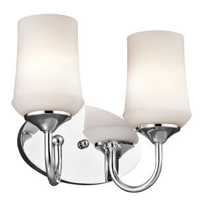 Aubrey Chrome Two-Light Bath Vanity