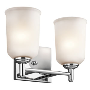 Shailene Chrome Two-Light Bath Vanity