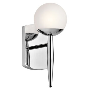 Jasper Chrome One-Light Wall Sconce