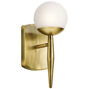 Jasper Natural Brass One-Light Wall Sconce