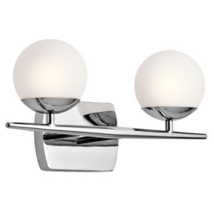 Jasper Chrome Two-Light Bath Sconce