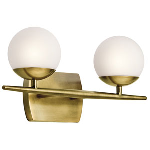 Jasper Natural Brass Two-Light Bath Sconce