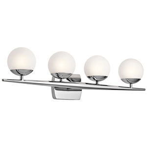 Jasper Chrome Four-Light Bath Sconce