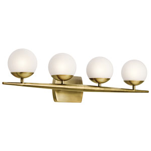 Jasper Natural Brass Four-Light Bath Sconce
