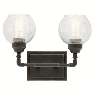 Niles Olde Bronze 15-Inch Two-Arm Bath Light