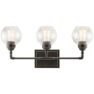 Niles Olde Bronze 24-Inch Three-Arm Bath Light