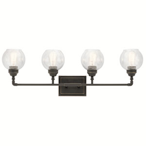 Niles Olde Bronze 33-Inch Four-Arm Bath Light