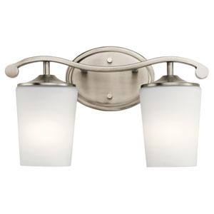 Versailles Antique Pewter 15-Inch Two-Arm Bath Light