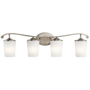 Versailles Antique Pewter 32-Inch Four-Arm Bath Light