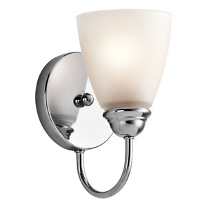 Jolie Chrome One-Light Wall Sconce