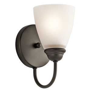 Jolie Olde Bronze One-Light Wall Sconce