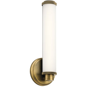 Indeco Natural Brass LED Wall Sconce