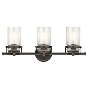 Brinley Olde Bronze 24-Inch Three-Light Bath Light