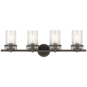 Brinley Olde Bronze 32-Inch Four-Light Bath Light