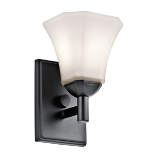 Serena Black One-Light Wall Sconce