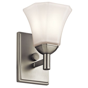 Serena Brushed Nickel One-Light Wall Sconce