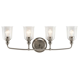 Waverly Classic Pewter 33-Inch Four-Arm Bath Light