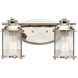 Ashland Bay Polished Nickel Two-Light Bath Sconce