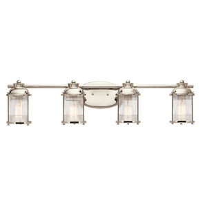 Ashland Bay Polished Nickel Four-Light Bath Sconce