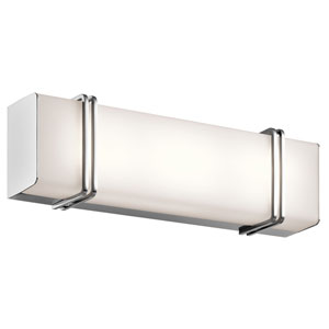 Impello Chrome 18.5-Inch LED Linear Bath Bar