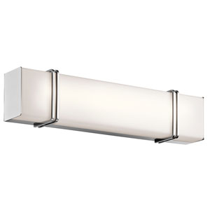 Impello Chrome 24.5-Inch LED Linear Bath Bar