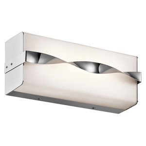 Tori Chrome 12.5-Inch LED Linear Bath Bar