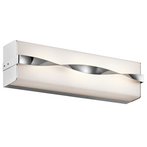 Tori Chrome 18.5-Inch LED Linear Bath Bar