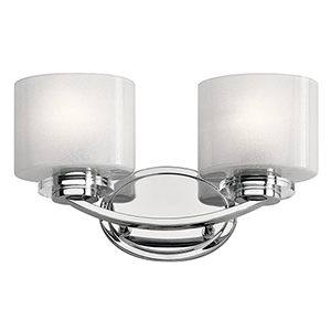 Archer Chrome 15-Inch Two-Light Bath Light