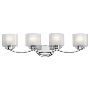 Archer Chrome 33-Inch Four-Light Bath Light