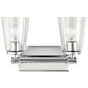 Audrea Chrome 14-Inch Two-Light Bath Light