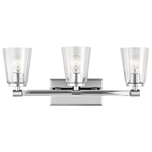 Audrea Chrome 24-Inch Three-Light Bath Light