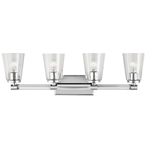 Audrea Chrome 30-Inch Four-Light Bath Light