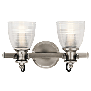 Flagship Classic Pewter 16-Inch Two-Light Bath Light